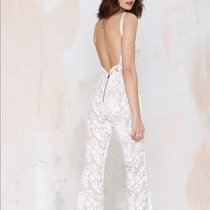 STONE COLD FOX Dylan Lace Jumpsuit